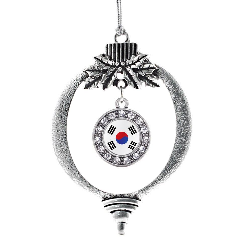 Republic of Korea Flag Circle Holiday Ornament