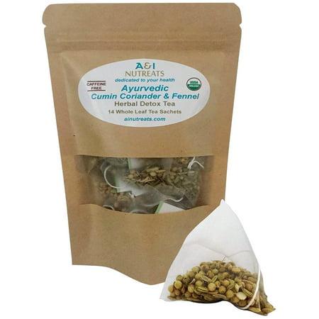 Ayurvedic In Coriander And Fennel Tea Äì Premium Whole Leaf Pyramid Sachet Bags Usda Organic Herbal Detox Improves Digestion