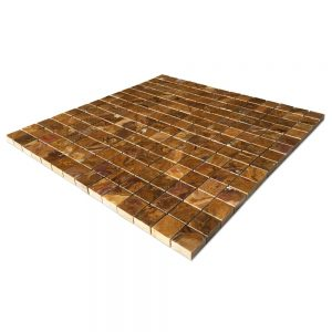 "Multi- Brown Onyx Mosaic Tiles 3/4"" X 3/4"""
