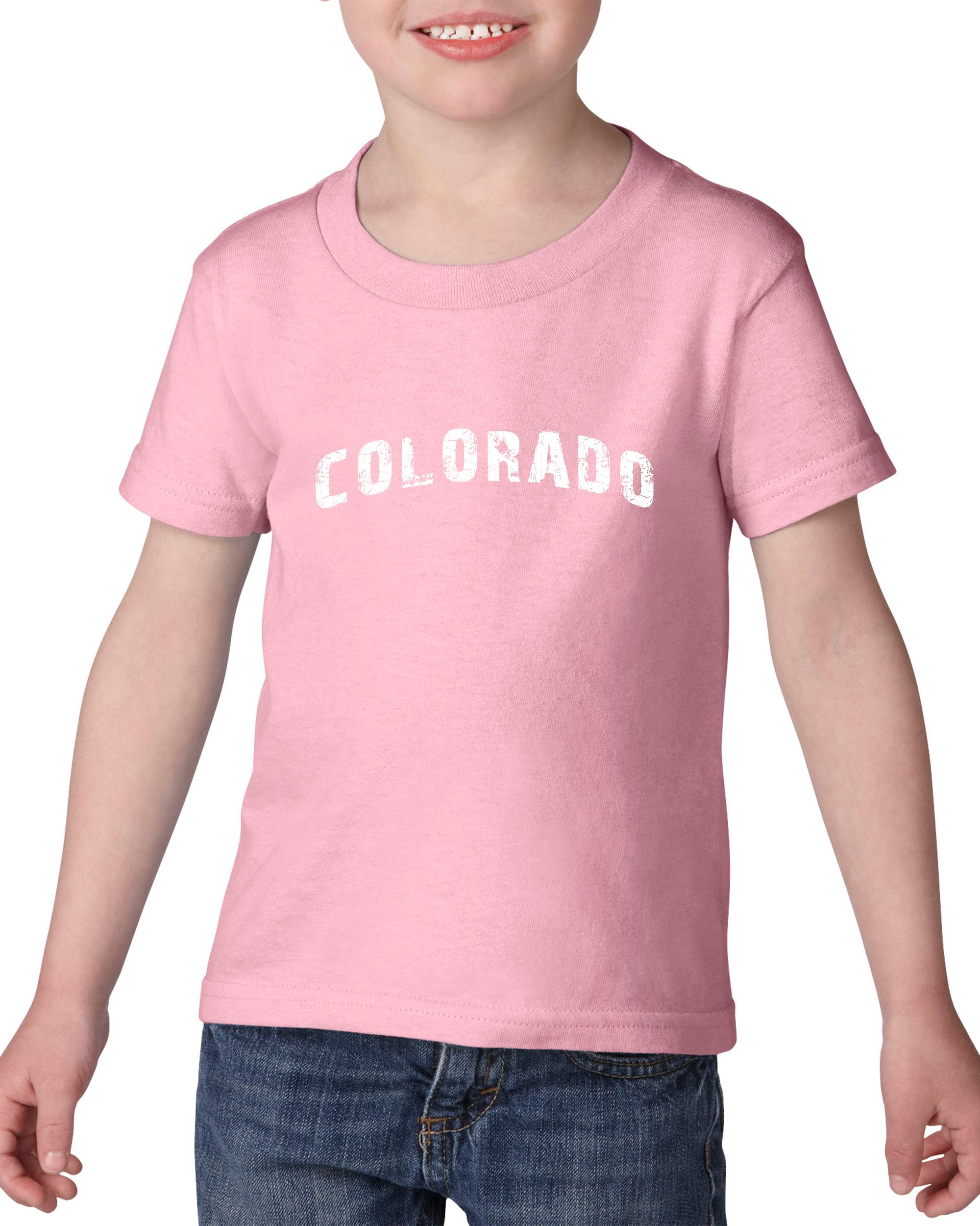 Artix Colorado Home of CU Denver UCCS University of Springs Map Flag Heavy Cotton Toddler Kids T-Shirt Tee Clothing