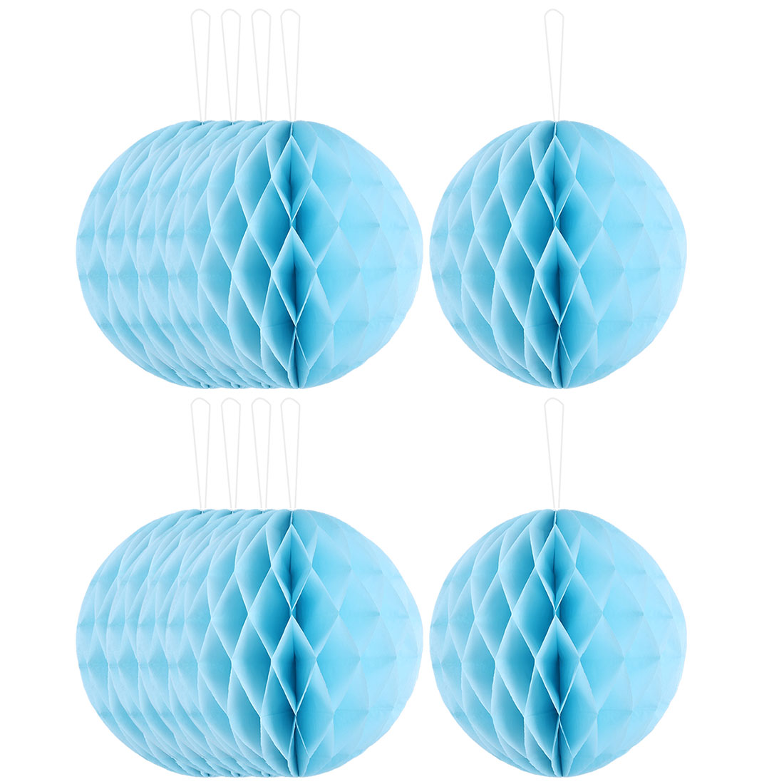 Paper Wall Window Door DIY Decoration Honeycomb Ball Sky Blue 12 Inch Dia 10 Pcs