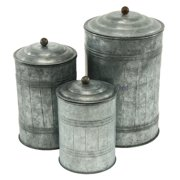 Aspire Galvanized Metal 3 Piece Decorative Jar Set