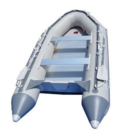 BRIS 12.5Ft Inflatable Boat Inflatable Fishing Rescue Dive Boat Dinghy Tender Raft
