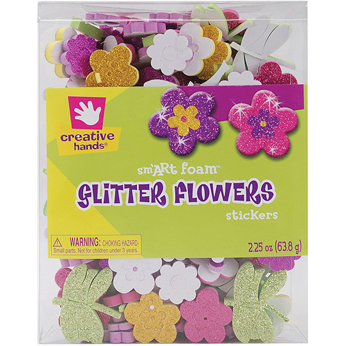 SmArt Foam Glitter Stickers, 2.25 oz, Flowers