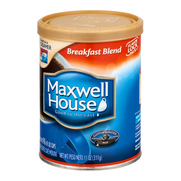 Maxwell House Breakfast Blend Ground Coffee, 11 OZ (Pack of 6)