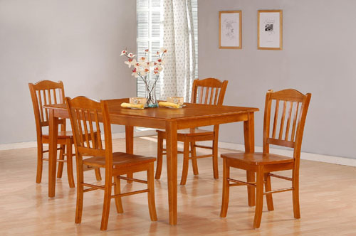 Click here to buy Boraam 5pc Shaker Dining Room Set, Black Oak by Boraam.