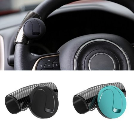 Car Steering Wheel Spinner Knob Auxiliary Booster Aid Control Handle Grip Black Auxiliary Steering Kit