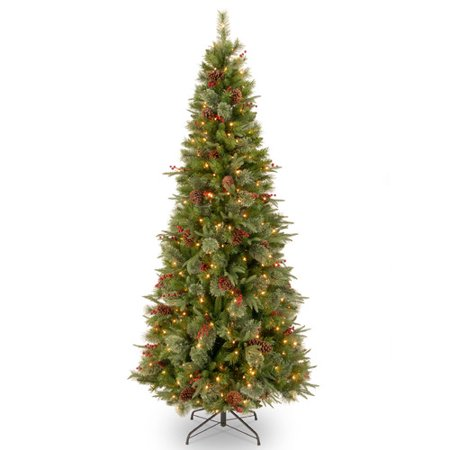 National tree pre lit 7 1 2 39 feel real colonial slim for Lit national
