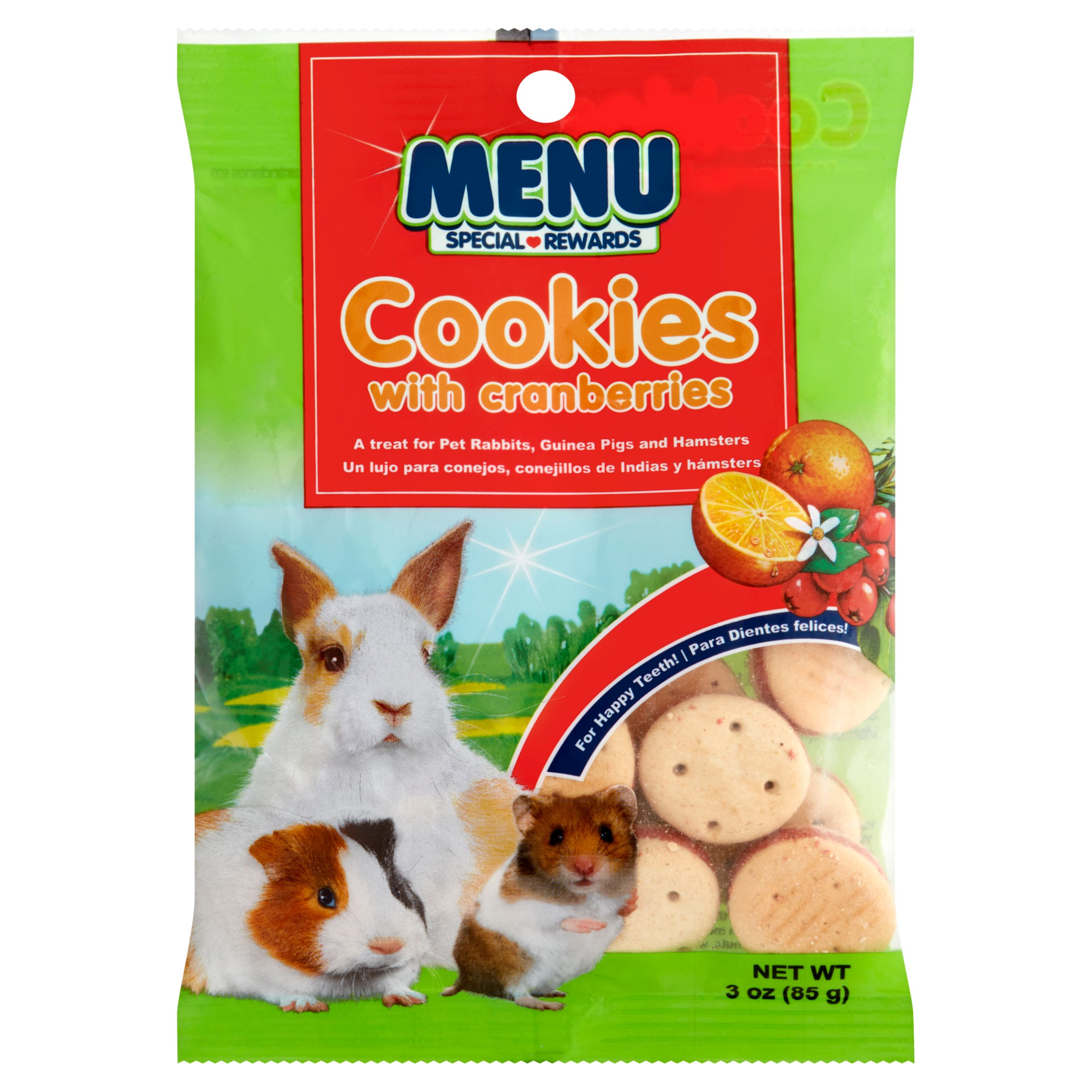 Menu Cookies with Cranberries Rabbit, Guinea Pig, & Hamster Treats, 3 Oz by Vitakraft Sun Seed, Inc.