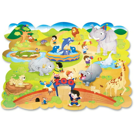 Creativity Street, CKC95177, Giant Zoo Animals Floor Puzzle, 1 Each, Assorted ()