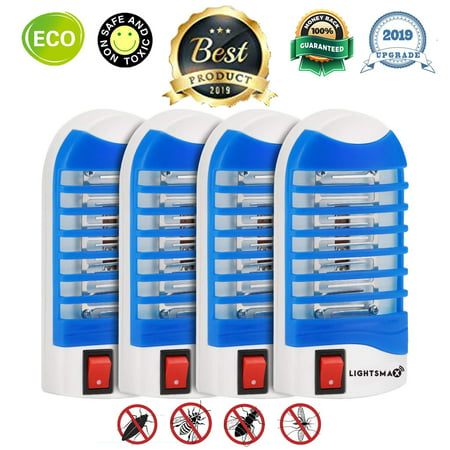 2018 MOST POWERFUL LIGHTSMAX Indoor Insect Killer, Plug-in Bug Zapper Electric Mosquito Killer Lamp with Light Sensor - Perfect for Indoor Pest Control (white)