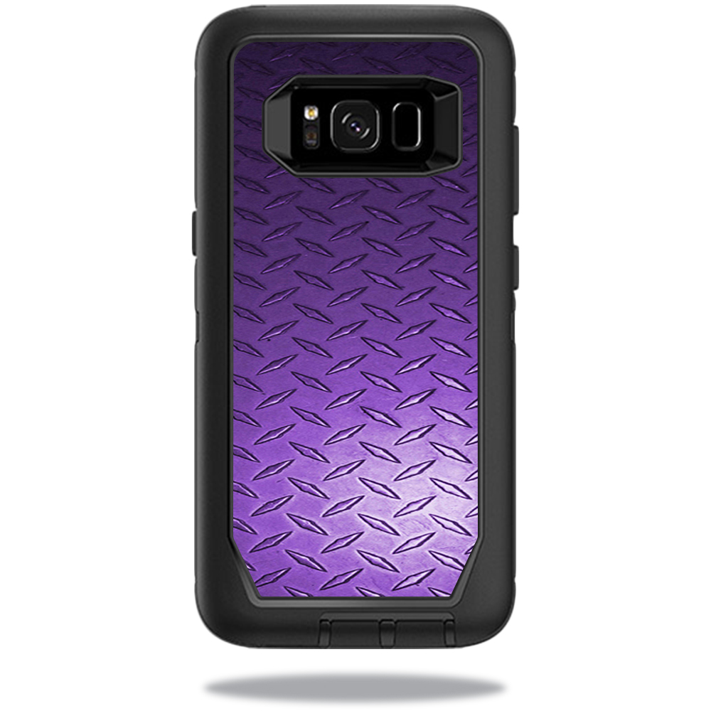 MightySkins Protective Vinyl Skin Decal for OtterBox DefenderSamsung Galaxy S8 Case sticker wrap cover sticker skins Purple Diamond Plate