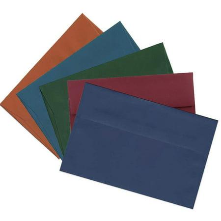 JAM Paper A9 Invitation Envelopes, 5 3/4 x 8 3/4, Assorted Dark Colors, 125/pack