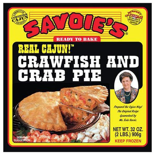 Savoie's Crawfish and Crab Pie, 32 oz
