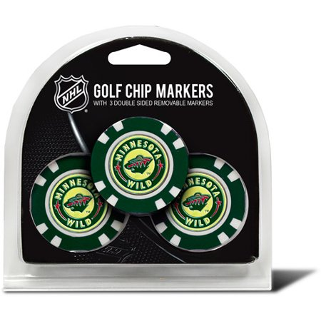 Team Golf NHL Minnesota Wild 3 Pack Golf Chip Ball Markers
