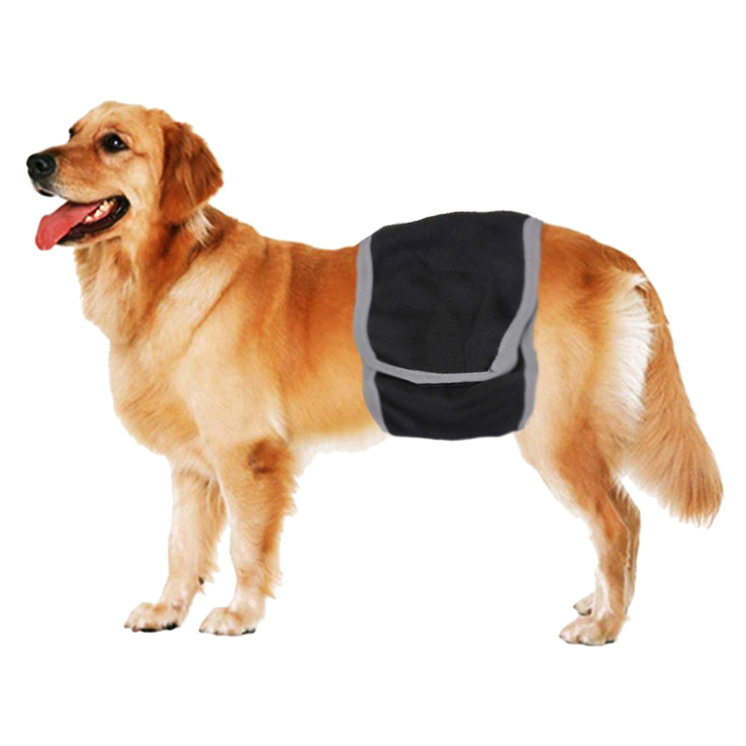 Pet Diaper,Legendog Black Reusable Breathable Dog Belly Band Dog Wrap for Dogs & Cats