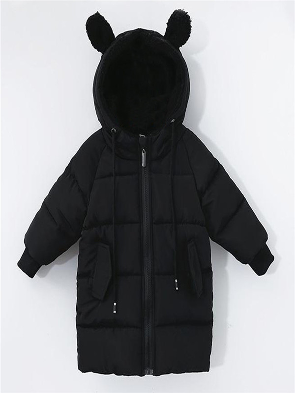 Toddler Kids Baby Girl Boy Winter Thick Warm Hooded Cloak Outwear Coat Jacket
