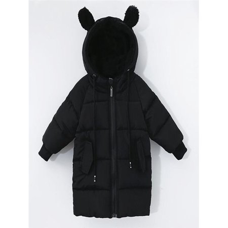 4ceb25189b58 Kids Baby Girl Boy Winter Hooded Coat Cloak Jacket Thick Warm ...