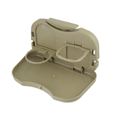 Portable Folding Plastic Car Can Cup Holder for Water Drink Khaki