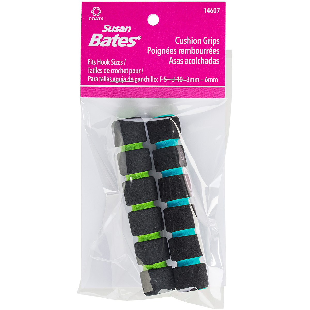 "Susan Bates Crochet Hook Cushion Grips 3.75""-2/Pkg"