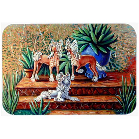 Caroline's Treasures Chinese Crested Glass Cutting Board