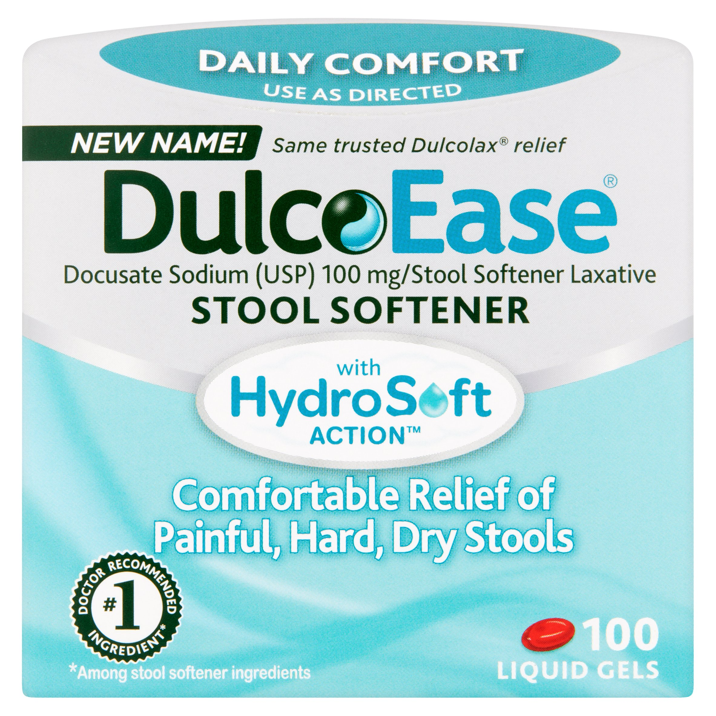 Colace Docusate Sodium Stool Softener 100mg 30 Count