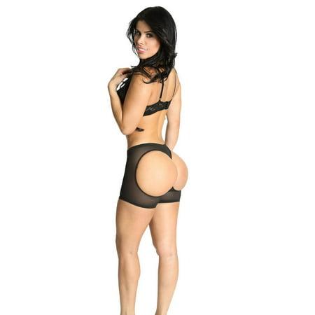 Smok69 butt Lifting Boy Short Booty Panty Waist Cincher Body Shaper Boy short bottom Sexy Black L