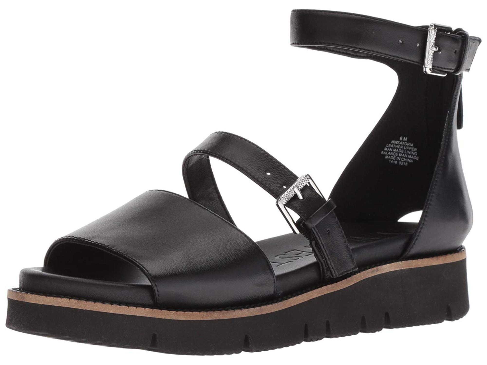 Satoria Leather Flat Sandal - Walmart