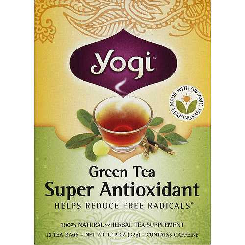 Generic Yogi Green Tea Super Antioxidant Herbal Supplement Tea Bags, 1.12 oz, (Pack of 6)