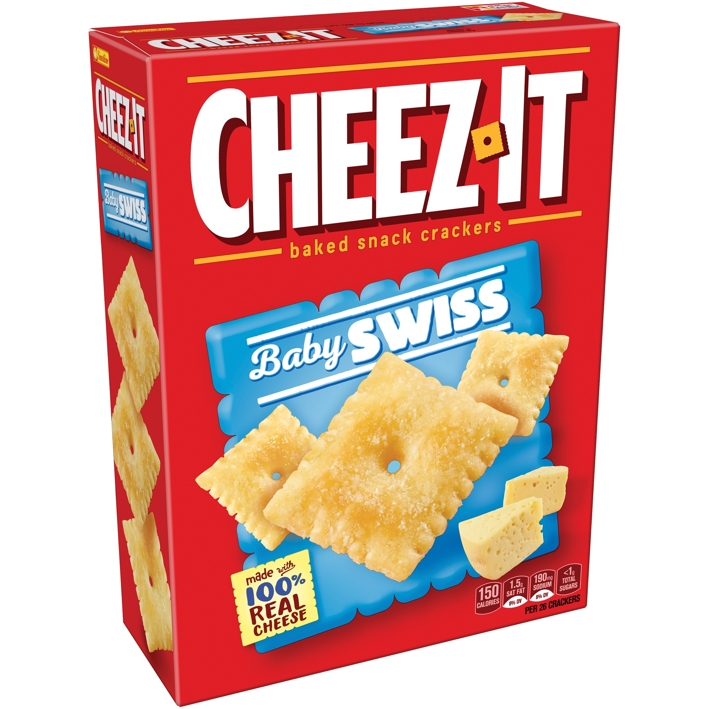 Cheez-It® Baby Swiss Baked Snack Crackers 12.4 oz. Box