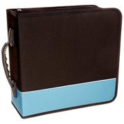 Boostwaves Premium Cloth 360 Compact Disc CD DVD Blu-Ray Media Wallet Folder Carrying Case, Assorted Colors