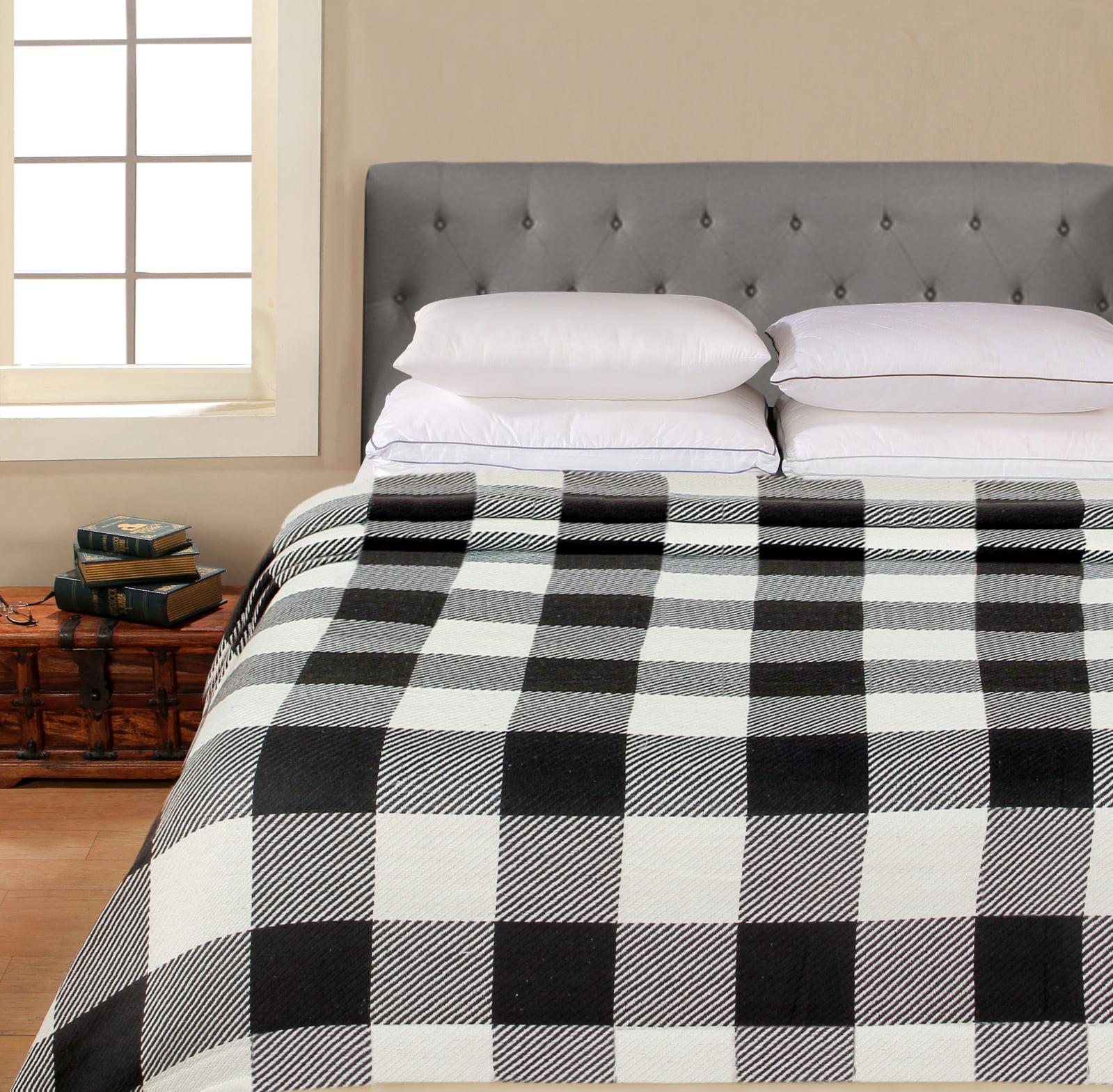 Better Homes & Gardens 100% Cotton Blanket - Classic Buffalo Blanket Grey