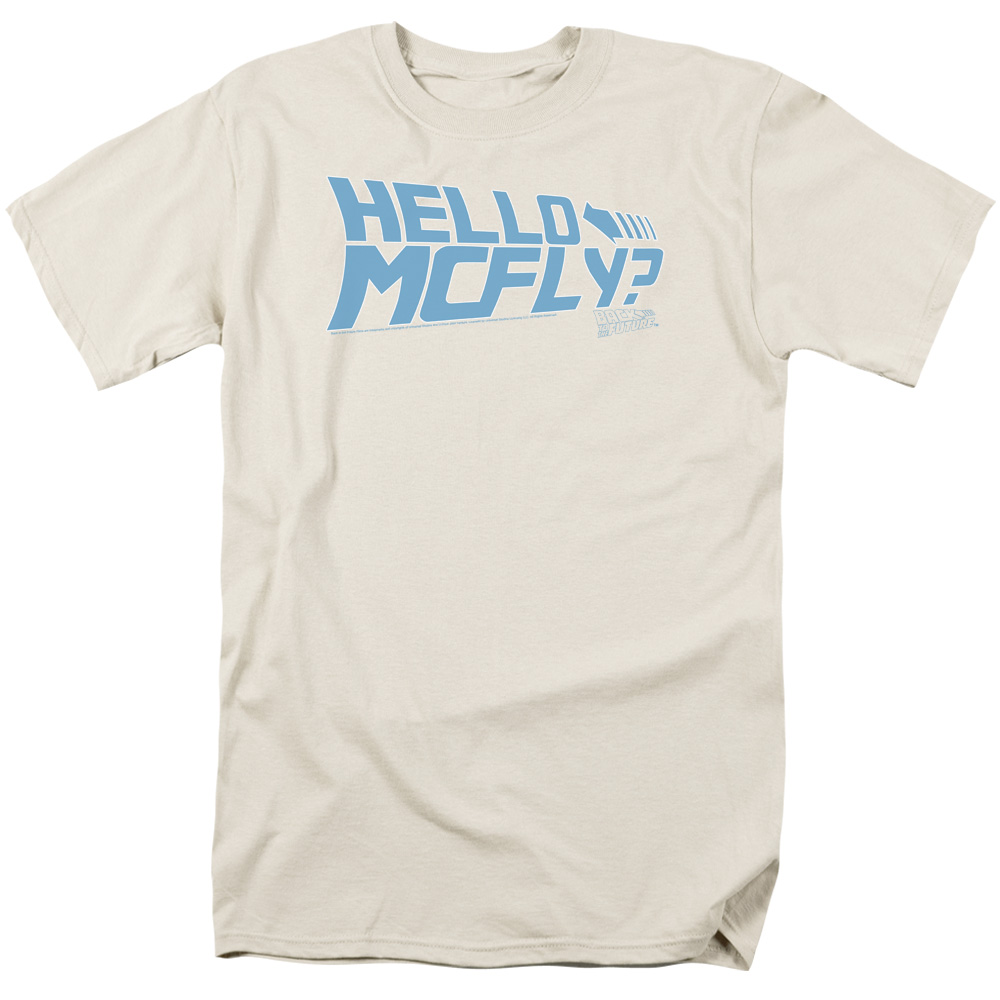 Back To The Future/Hello Mcfly   S/S Adult 18/1   Cream     Uni366