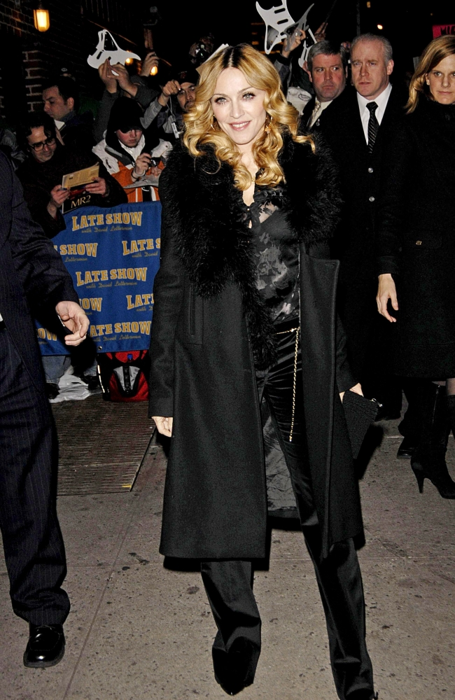 Madonna At Talk Show Appearance For The Late Show With David Letterman...