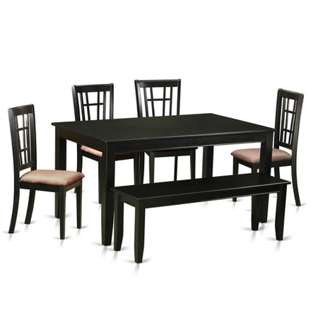 nook dining set kitchen table and 4 dining room chairs with a bench