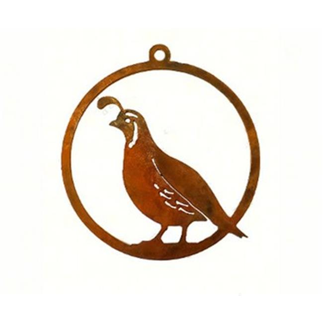 California Home and Garden CHG856 Handcrafted With Steel - Quail Ornament
