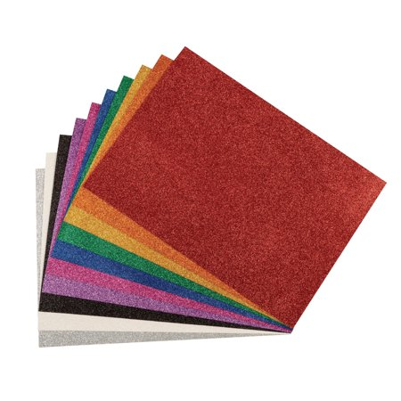 WonderFoam Glitter Sheets, 8-1/4 x 11-7/10 Inches, Assorted Colors, Pack of - Bag Of Glitter