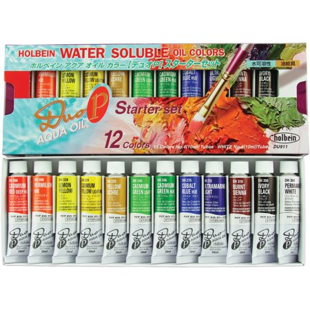 Holbein DUO Aqua Oil 12-Color Starter Set