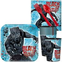 Black Panther Standard Tableware Kit With Plastic Favor Cups (Serves 8)