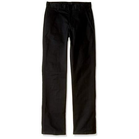 Boys Straight-Leg Double Knee Flat-Front Pants 12 (Double Knee Flat)