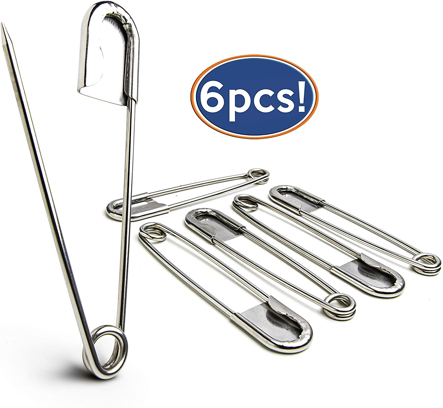 Skirts Kilts /& Crafts TRUEGOOD Extra Large 4Steel Safety Pin Set for Blankets Random Multicolor, 5-Pack