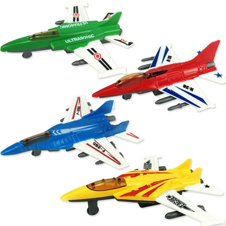 Pull Back Airplane Toy (Cute Interesting Pull Back Plane Toy Mini Aircraft Airplane Shape Toy for Kids Gift )
