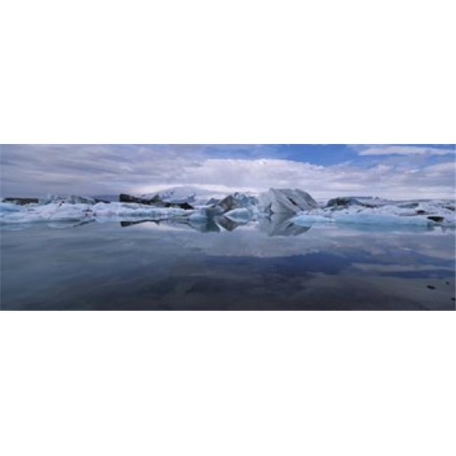 Panoramic Images PPI88951L Ice Berg Floating On The Water  Vatnajokull Glacier  Iceland Poster Print by Panoramic Images - 36 x 12 - image 1 of 1