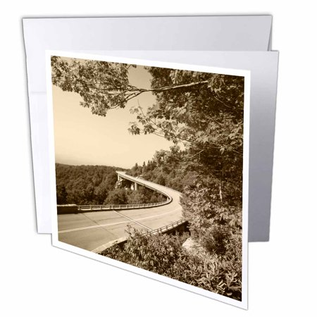3Drose Highway  Blue Ridge Parkway  North Carolina  Usa   Us34 Aje0195   Adam Jones  Greeting Cards  6 X 6 Inches  Set Of 12