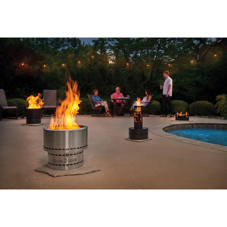 Flame Genie Wood Pellet Fire Pit Stainless Steel Walmart Com Walmart Com