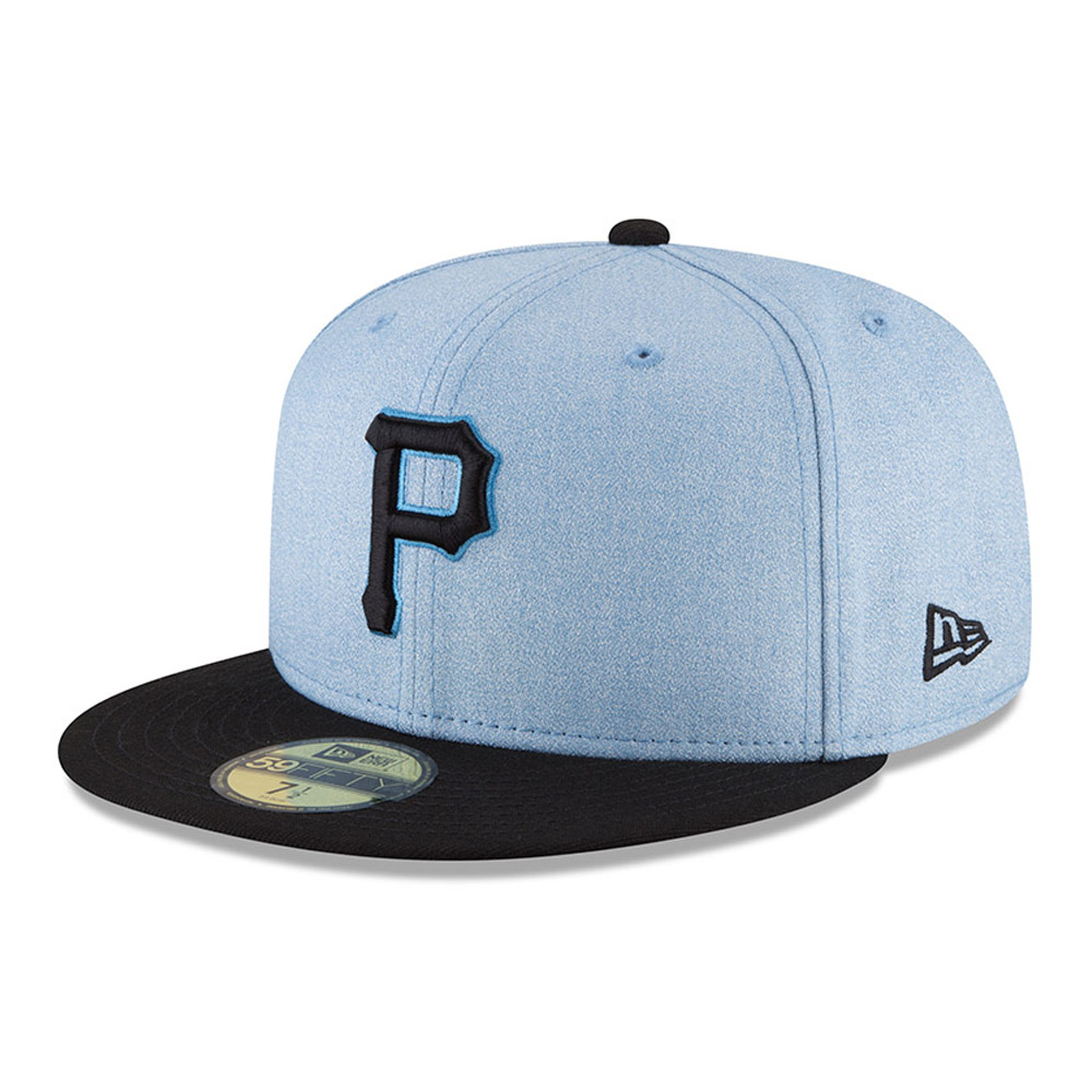 Pittsburgh Pirates New Era 2018 Father's Day On Field 59FIFTY Fitted Hat - Light Blue