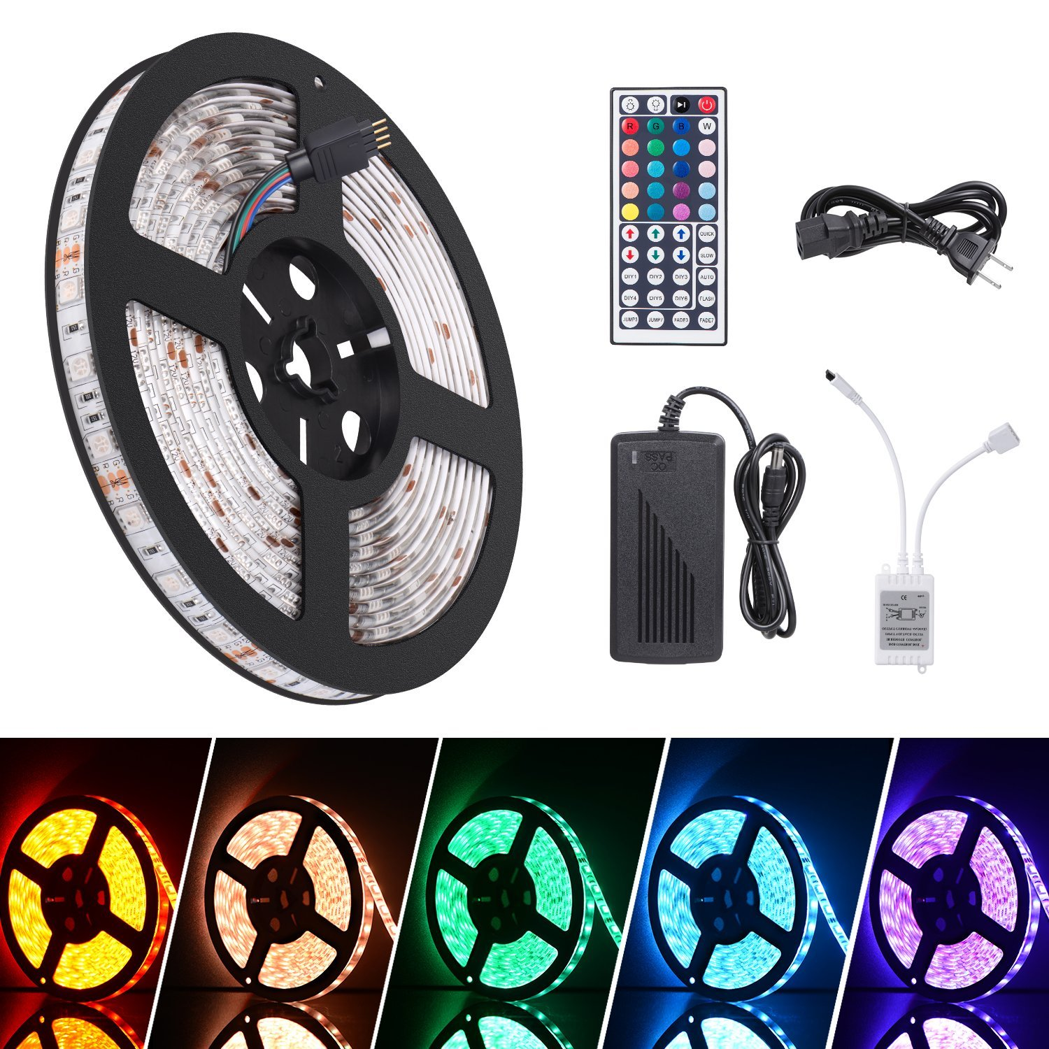 Zimtown 16 4ft Waterproof Flexible Rgb Led Strip Light Kit