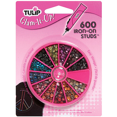 Tulip Glam-It-Up Iron-On Crystals, 600-Pack, 12-Millimeter, Multicolor Multi-Colored