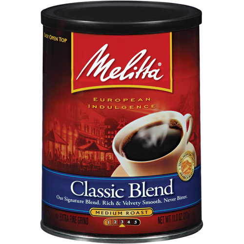 Melitta Classic Blend Medium Roast Ground Coffee, 11 oz