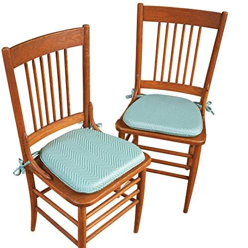 Collections Etc Foam Kitchen Chair Pads with Ties Set of
